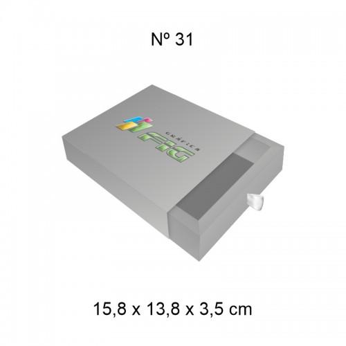 Caixa gaveta 31 (15,8cm x 13,8cm x 3,5cm)